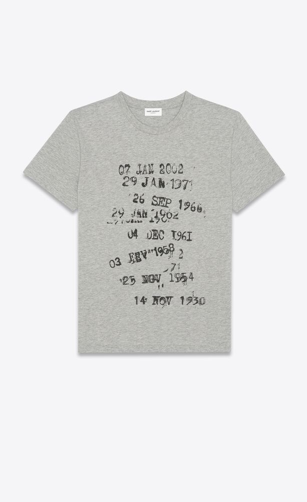 """archive dates"" t-shirt in heathered jersey"