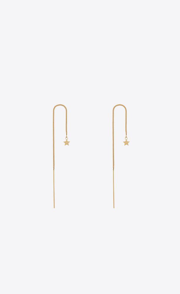 long chain star earrings in metal