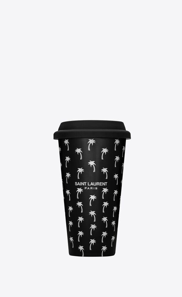 palm tree coffee mug in ceramic