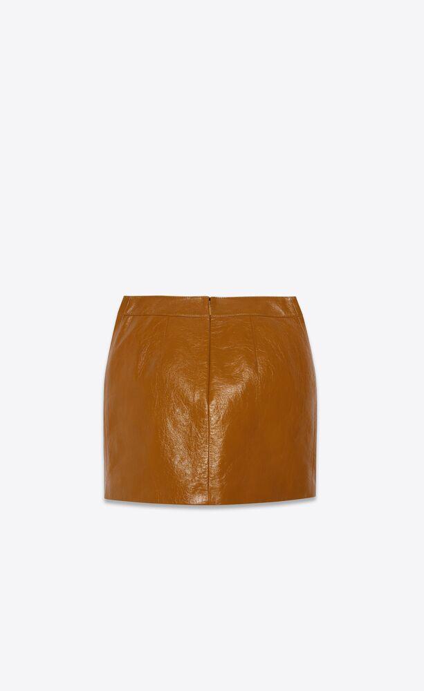 minifalda de piel de becerro brillante