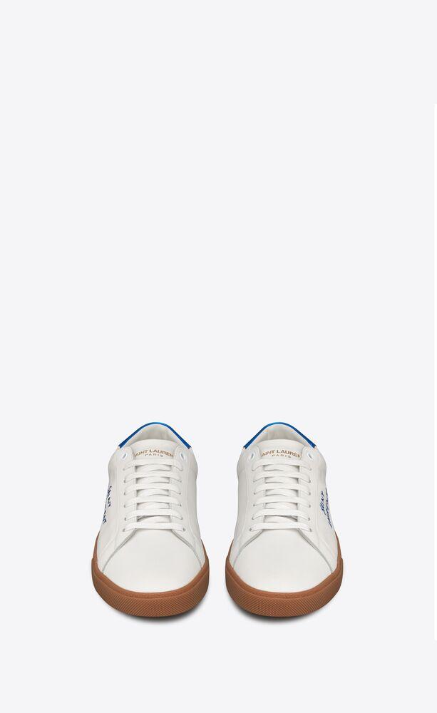 court classic sl/06 sneakers brodées en cuir lisse et métallisé