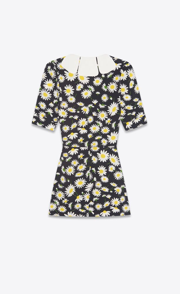 petal collar mini dress in daisy sablé
