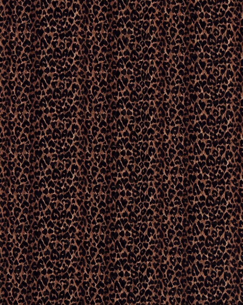 herzförmiger kaschmir-schal mit leoparden-print