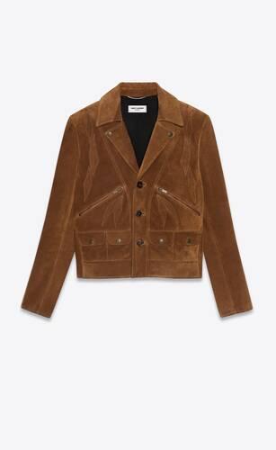 chaqueta de ante vintage con motivo de alas