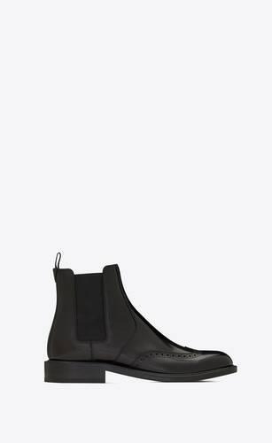 army chelsea boots en cuir lisse