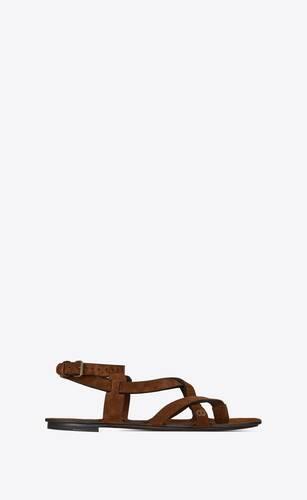 culver sandalen aus veloursleder