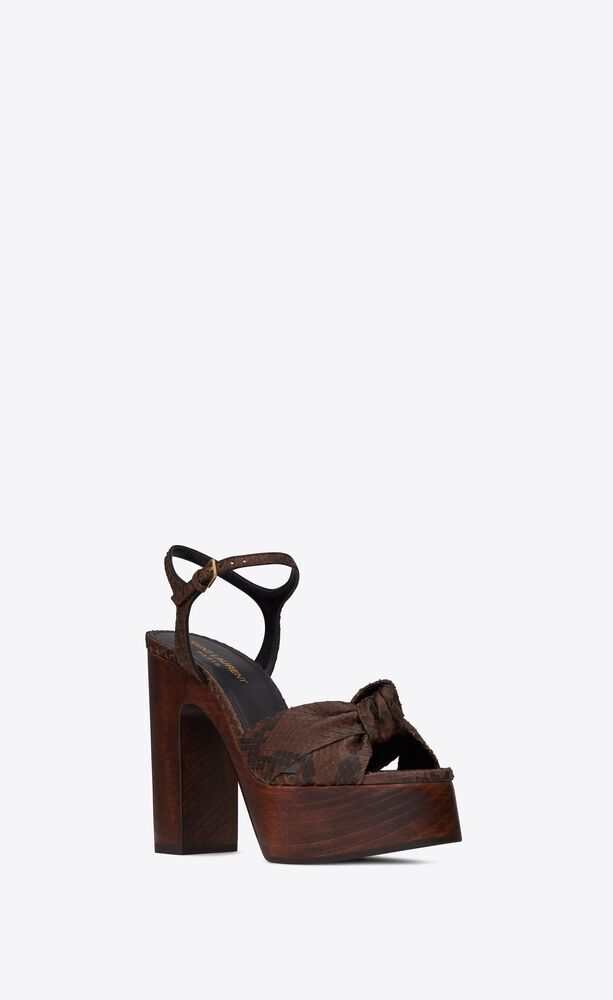 bianca sandals in python and wood