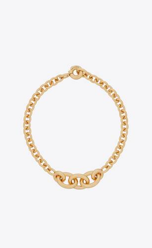 graduated chain necklace in metal