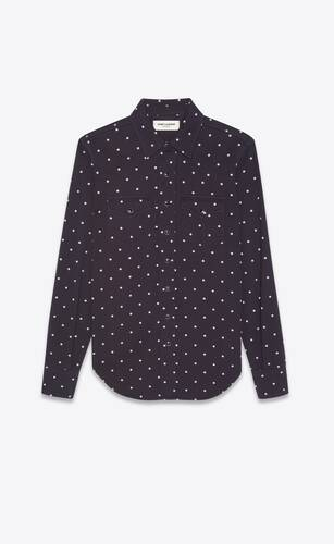 western shirt in dotted cotton twill