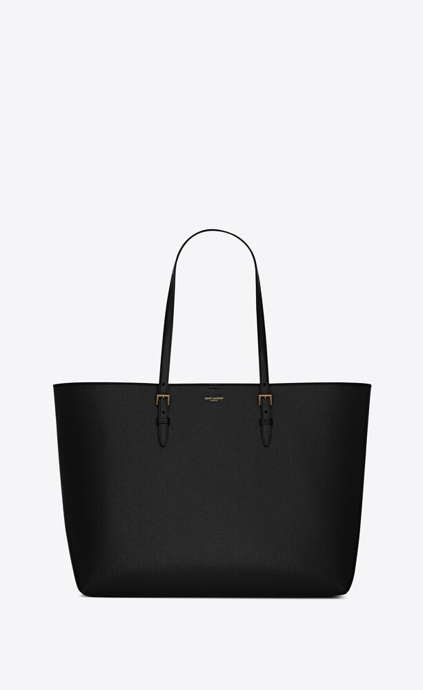 boucle e/w shopping bag in coated rind-embossed leather