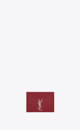 モノグラム クレジットカードケース(レッド/テキスチャードマトラッセレザー)