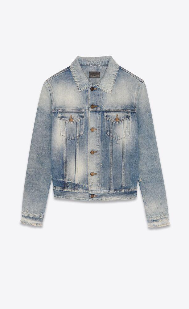 fitted jacket in hilton sky blue denim