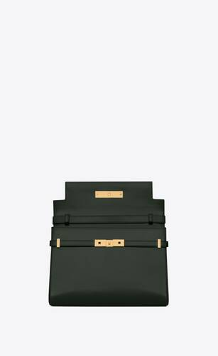 manhattan shoulder bag in box saint laurent leather