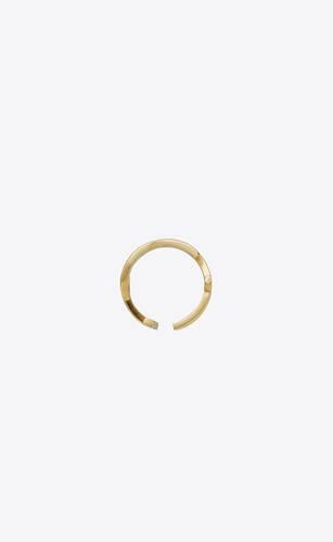 opyum twist ring in metal