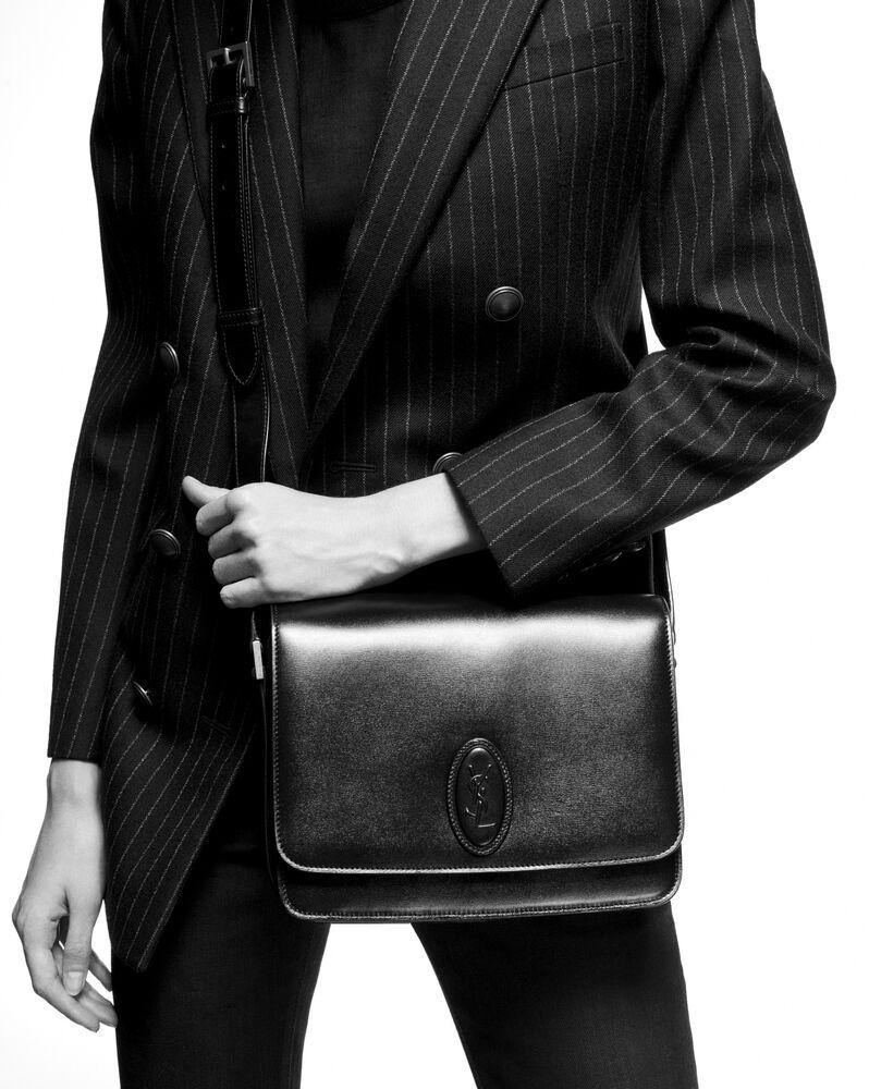 le 61 framed medium saddle bag in smooth leather