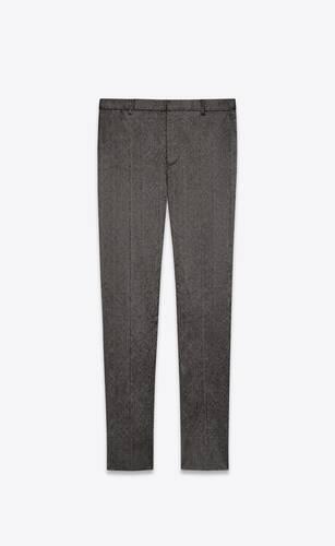 pantalones sastre de seda shantung con hilo flamé