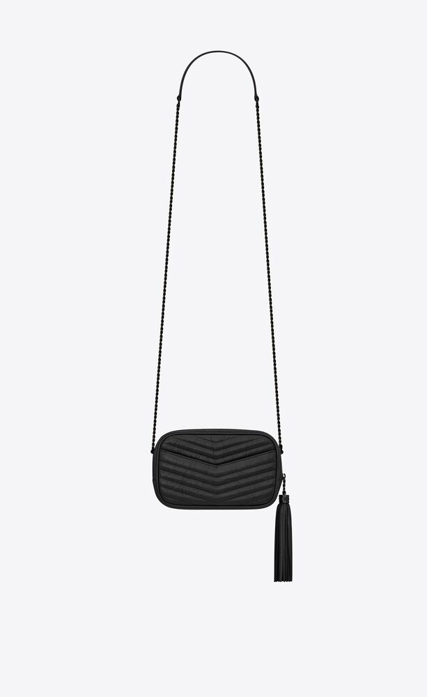 lou mini bag in quilted matte crinkled leather
