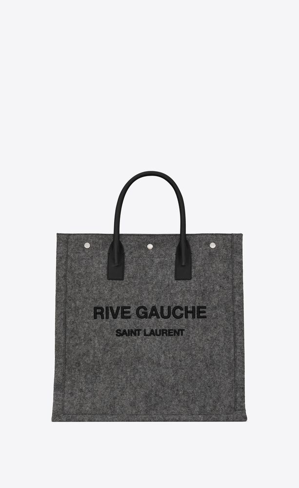 rive gauche north/south tote bag in felt and leather