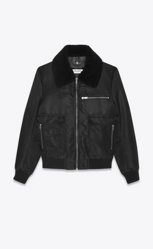 06vi chaqueta de aviador de nailon