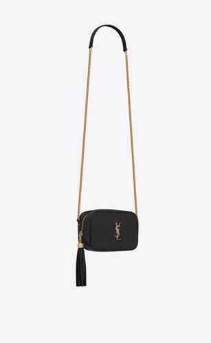 lou mini bag in raffia and vintage leather