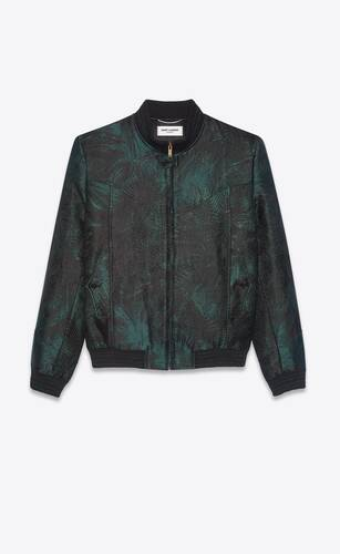 teddy jacket in jungle damask