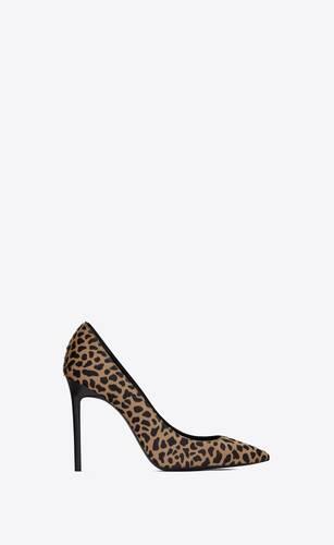 sandalias anja de piel con estampado de jirafa efecto poni