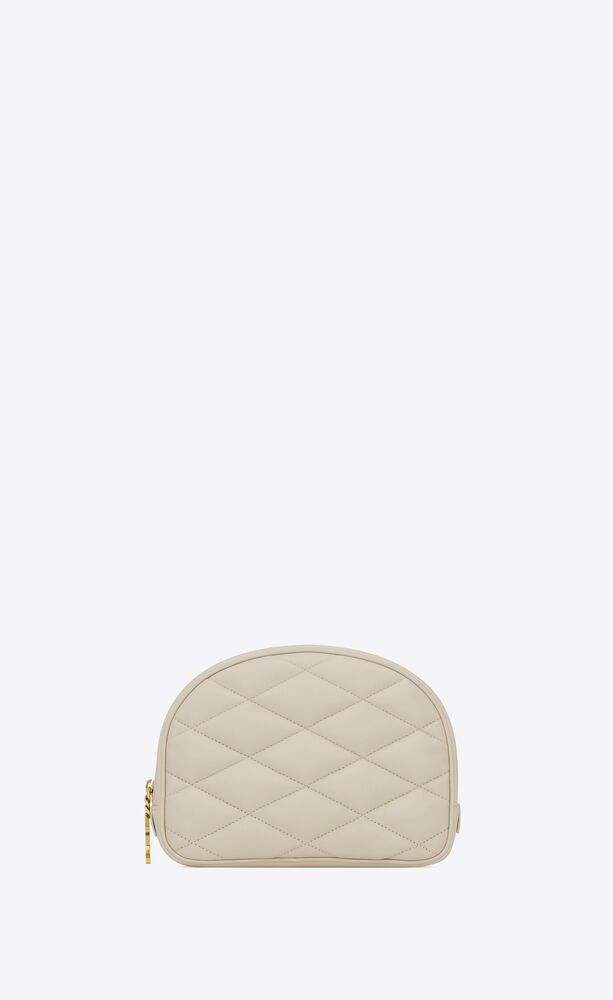 lolita cosmetics pouch in quilted lambskin
