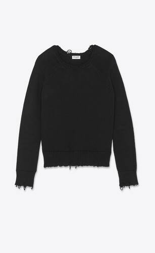 destroyed knit sweater