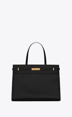 manhattan medium shopping bag in box saint laurent leather