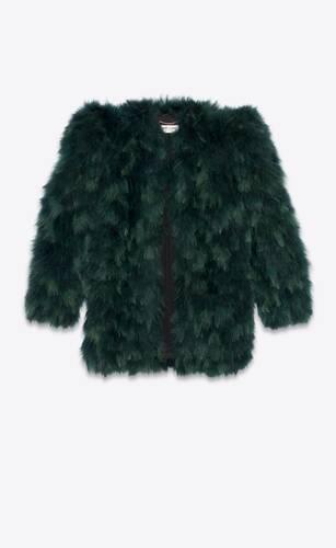 feather jacket in silk organza