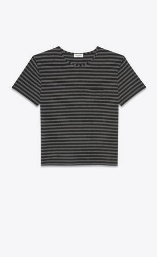 t-shirt monogram a righe in jersey