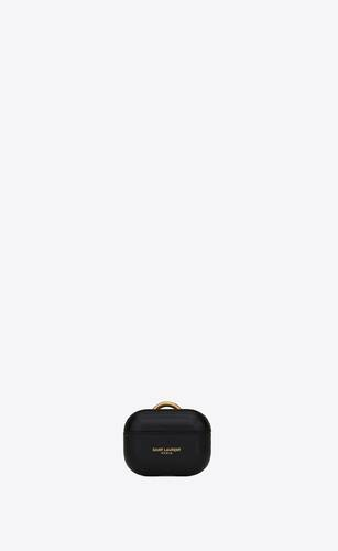 saint laurent paris airpods case cover in smooth leather