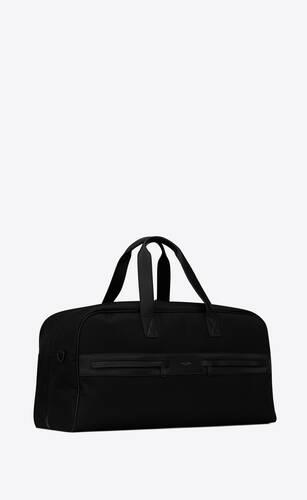 camp duffle bag in nylon and lambskin