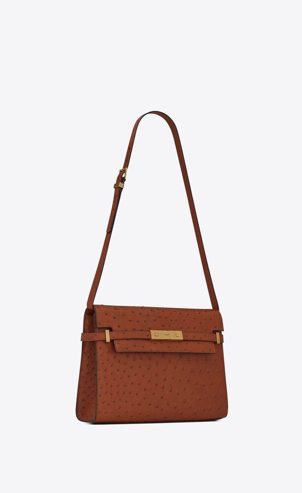 manhattan shoulder bag in ostrich