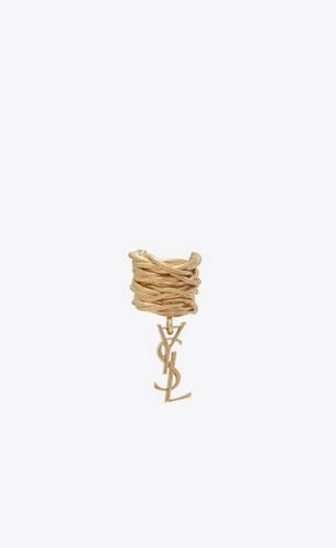 opyum monogram ear jewel in brass