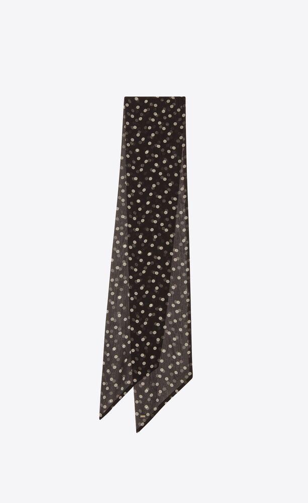 lavallière scarf in dotted silk muslin
