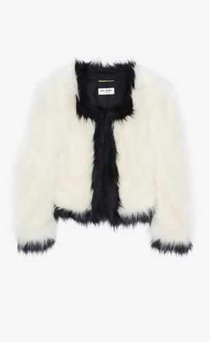 short jacket in faux-fur