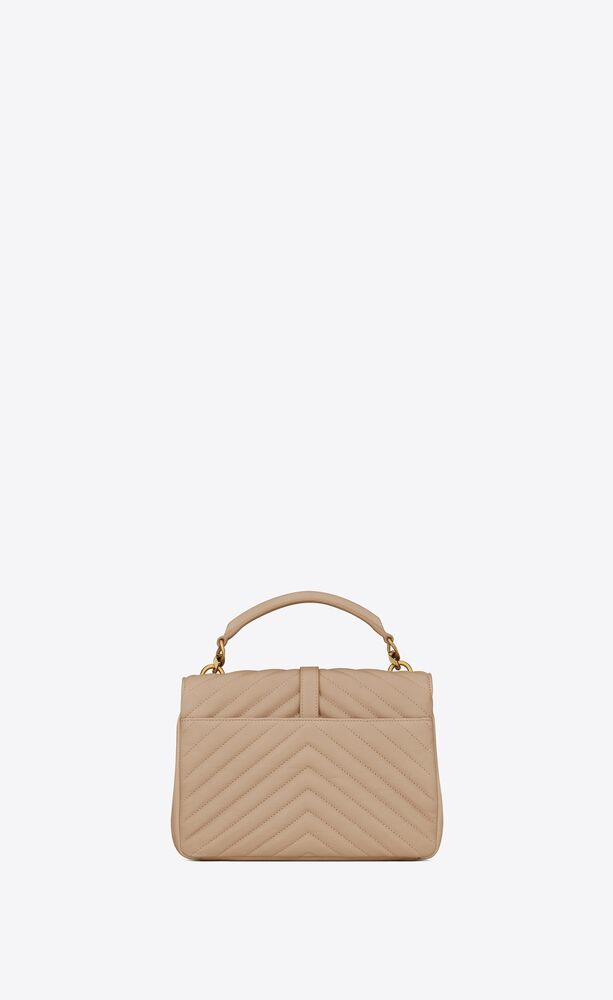collège medium in quilted leather