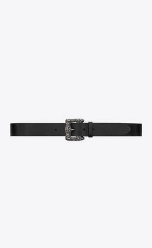 celtique belt in black leather