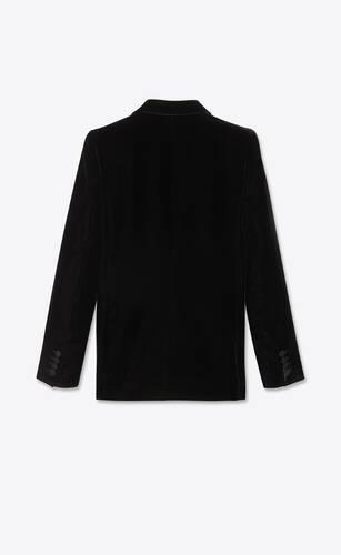 veste ajustée à double boutonnage en velours