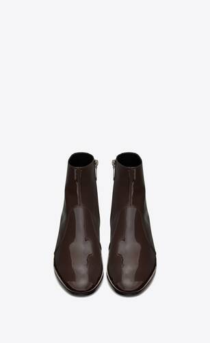 cole zipped boots in patent leather