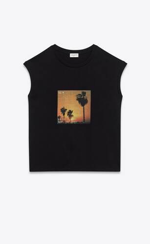 camiseta de tirantes sunset con motivo vhs