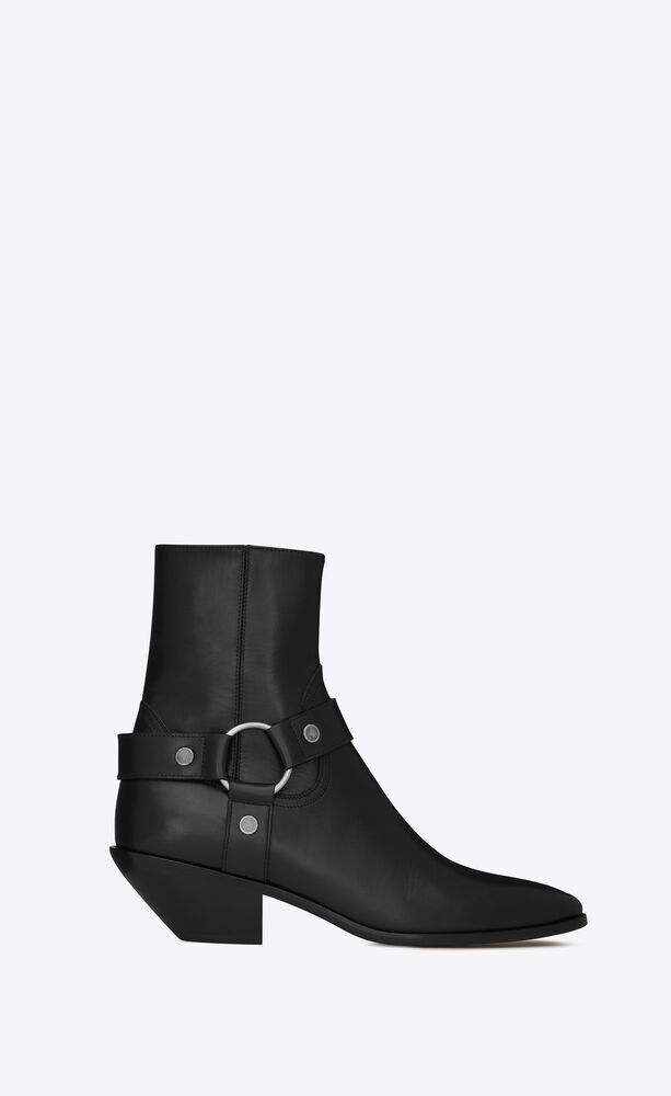 west harness booties in leather