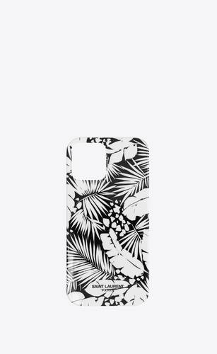 iphone 12 pro max case in tropical printed silicone