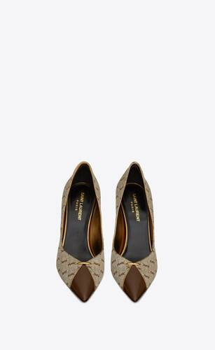 lola pumps in monogram jacquard and smooth leather