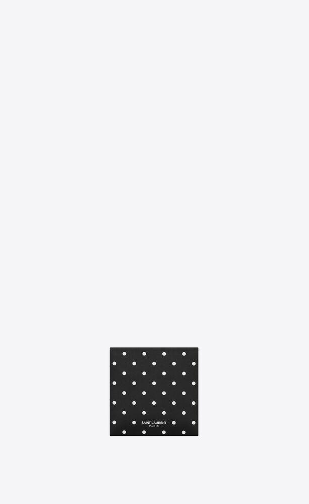 polka dot print fabric mask