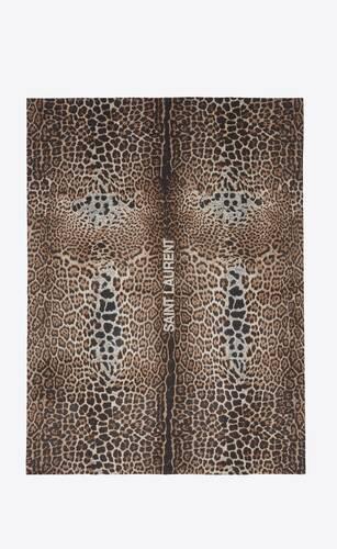 leopard throw blanket in jacquard