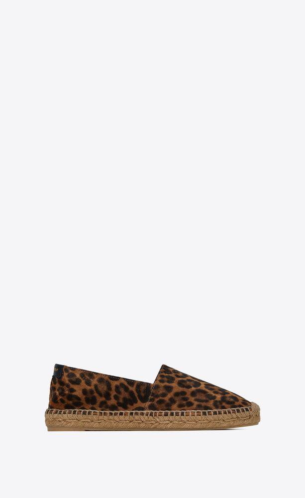 espadrilles in leopard-print suede