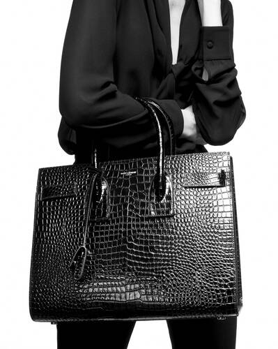 classic sac de jour small in embossed crocodile shiny leather