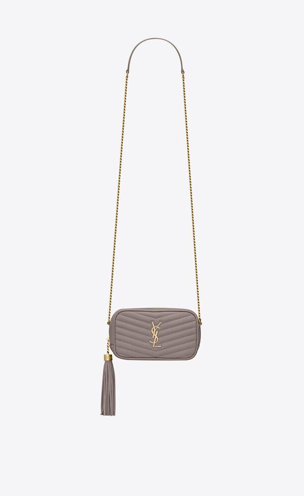 lou mini bag in matelassé grain de poudre embossed leather